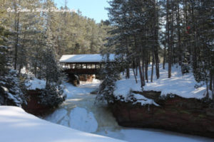 covered bridge ice